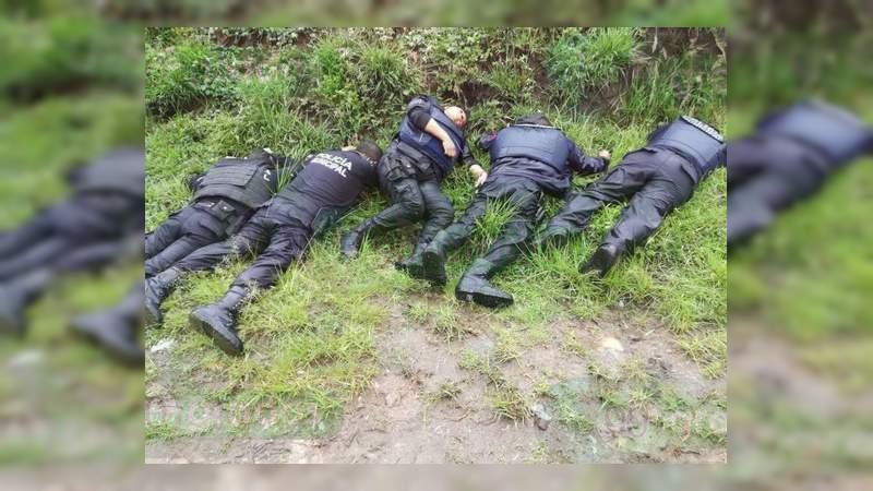 Mueren 6 policías al tras enfrentamiento a tiros con huachicoleros en Puebla