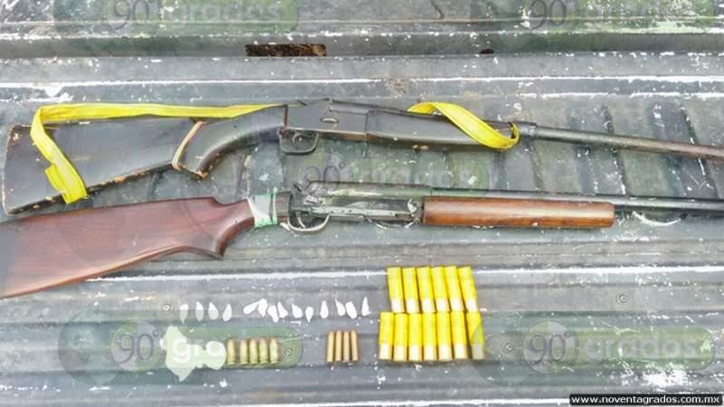 Detienen a tres con armas de fuego sobre la Querétaro - Irapuato, en Guanajuato