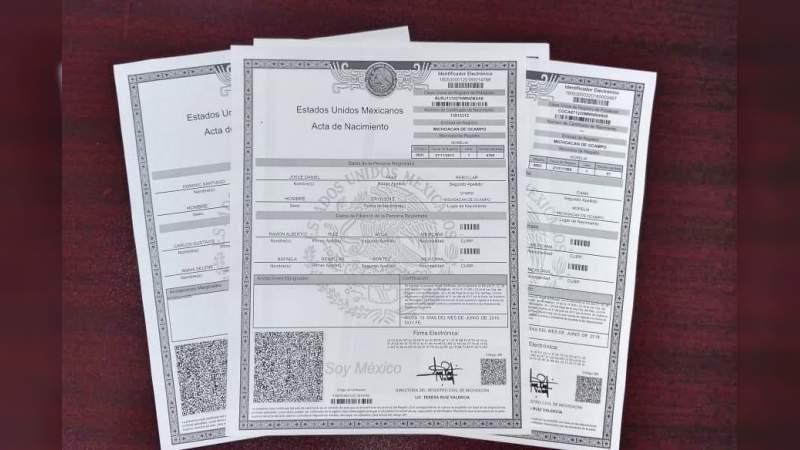 Actas de nacimiento, válidas en papel bond: Segob - Noventa Grados ...