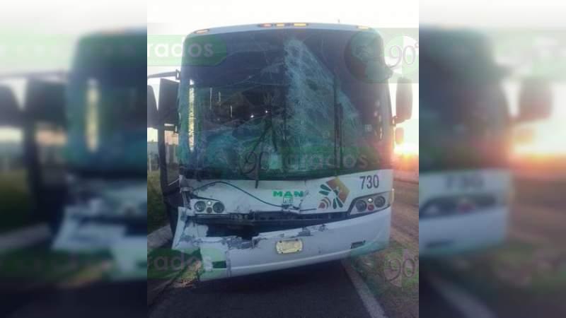 Chocan autobuses en la carretera Morelia - Salamanca