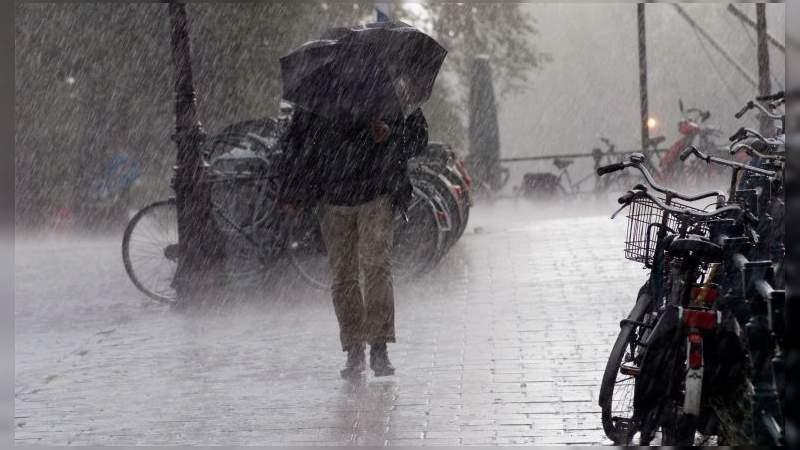 Prevalece pronóstico de lluvias en la mayor parte del país