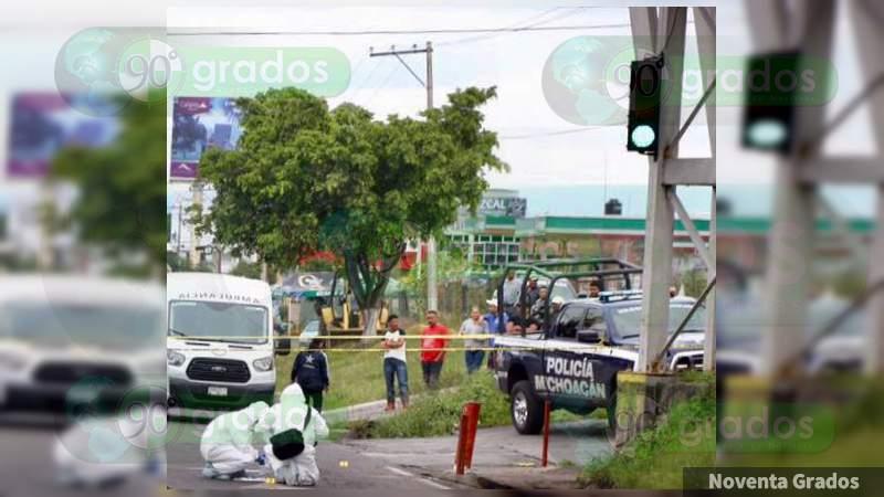 A balazos, ejecutan a sujeto en Morelia