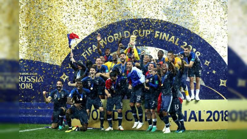 Francia derrota 4-2 a Croacia en la final de Rusia 2018