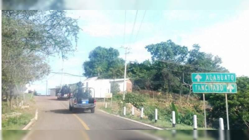 Liberadas vialidades en Apatzingán bloqueadas por grupos armados
