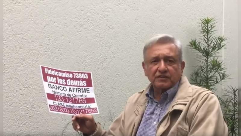 """Una """"vil venganza"""", multa del INE a Morena: López Obrador"""