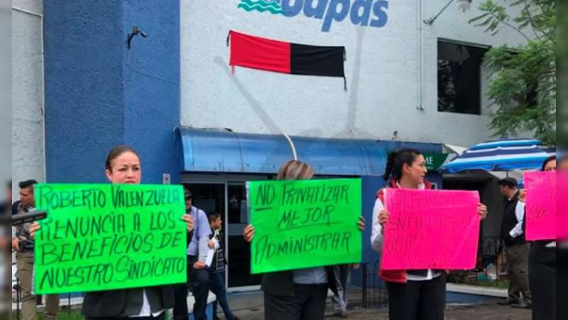 Director del OOAPAS intenta conflictuar a los trabajadores, acusa sindicato