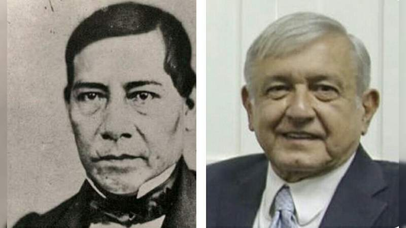 Comparan nuevo look de AMLO con el de Benito Juárez