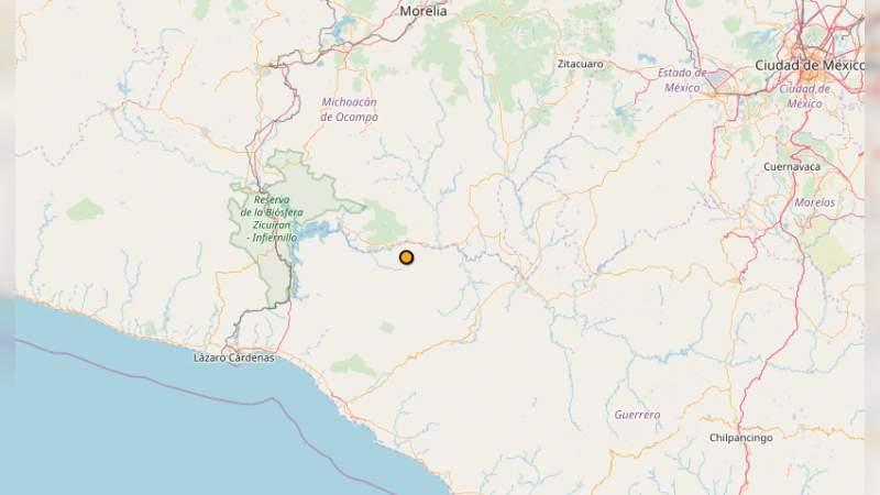 Se registra sismo de 4.7 en Huetamo
