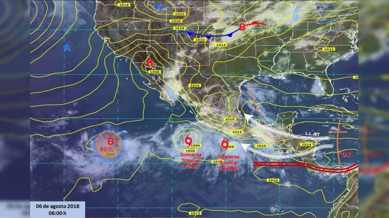 """En alerta PC Estatal ante tormenta tropical """"Ileana"""""""