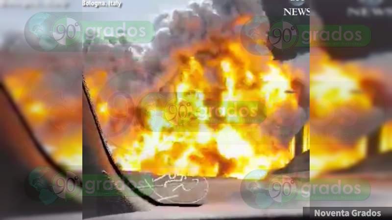 Explosión de pipa en Italia deja un muerto y 70 heridos