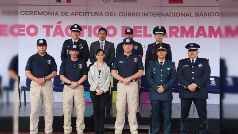 Especializa IEESSPP, agentes en el uso adecuado y responsable del armamento