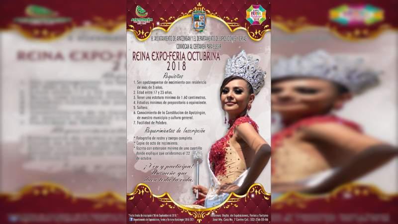 Inicia proceso para la selección de la Reina de las fiestas de la Constitución de 1814 en Apatzingán