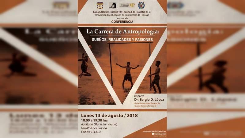 Profesor de la Universidad Estatal de Nueva York impartirá conferencia sobre Antropología en la UMSNH