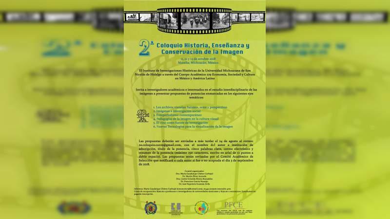 UMSNH realizará Coloquio sobre la imagen como fuente de investigación