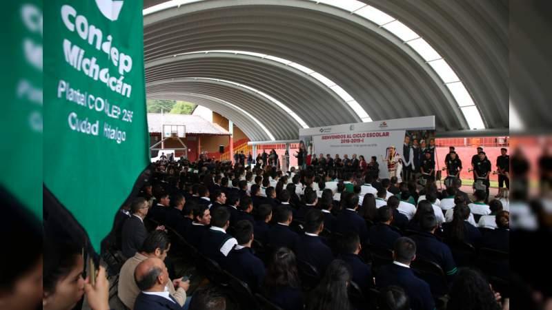 En Michoacán, arranque nacional del ciclo lectivo del Conalep