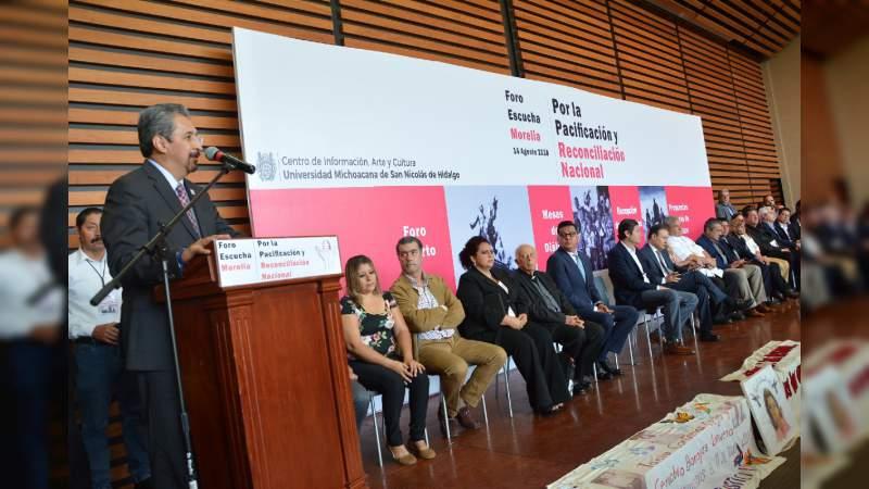 Llama Casa de Hidalgo a pacto social para la construcción de la paz
