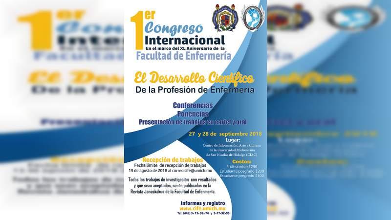 Amplían periodo de recepción de trabajos para 1er Congreso Internacional de Enfermería