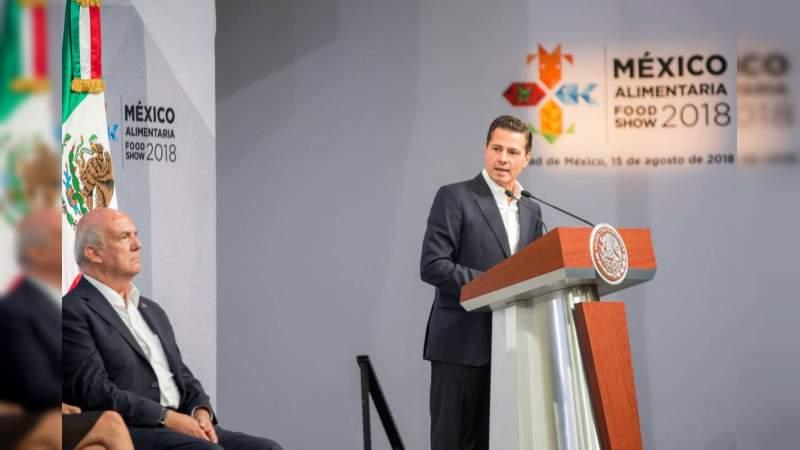México, en la ruta de consolidarse como potencia alimentaria: Peña Nieto