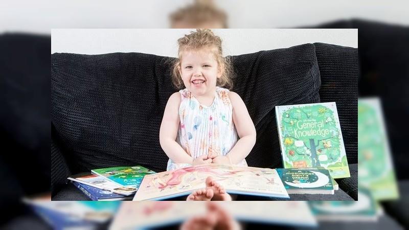 Ophelia, la niña de 3 años con coeficiente superior a Einstein