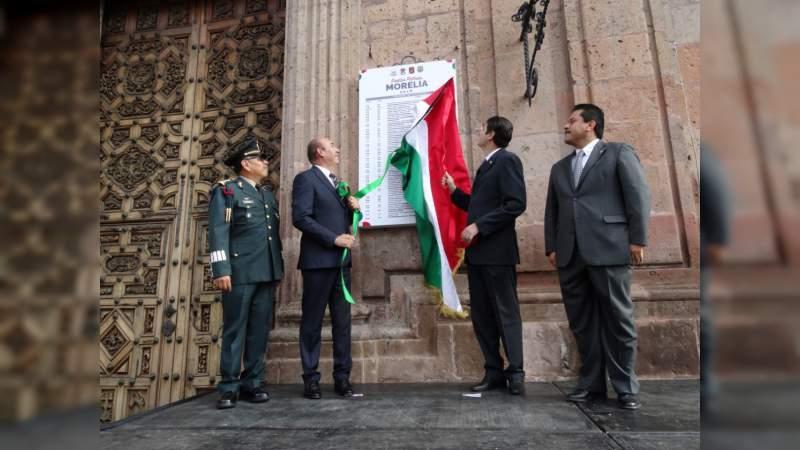 En Recorrido de Bando Solemne, Alcalde Alfonso Martínez encabeza develación de actividades de Mes Patrio