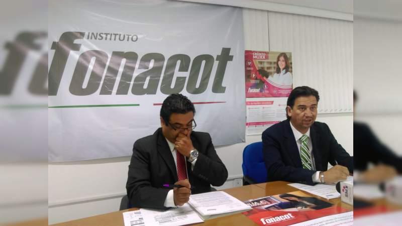 En seis años el Fonacot ha otorgado mil 296 mdp a 107 mil trabajadores de Michoacán
