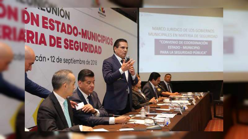 El 48% de los municipios de Michoacán indecisos en firmar el convenio de seguridad entre Estado y Municipios