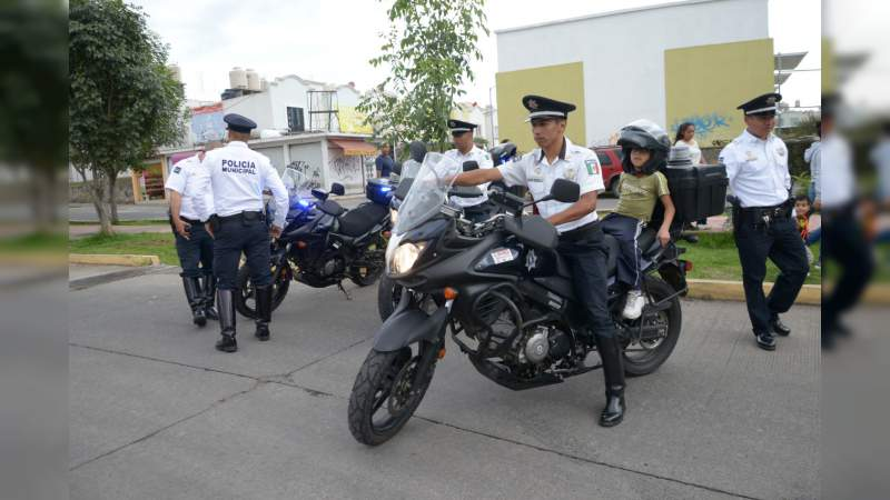 Policía Morelia arranca Modelo de Proximidad Social en Villas del Pedregal