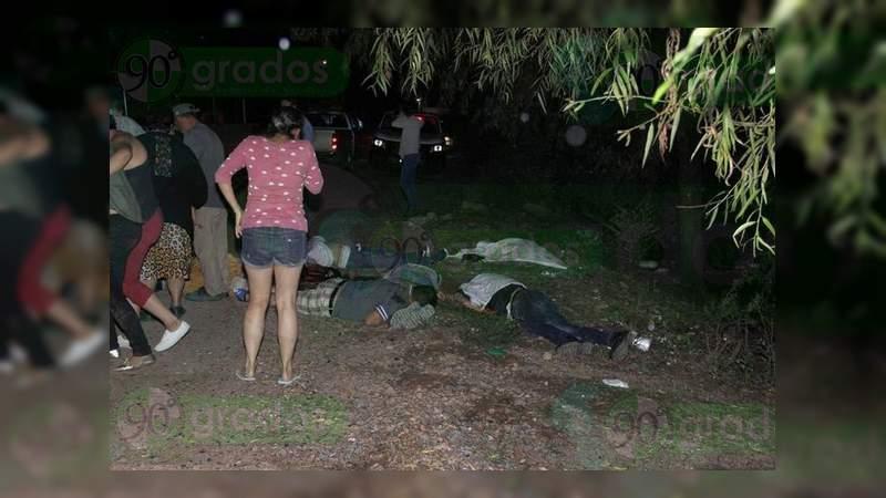 Asesinan a seis hombres en Pénjamo, Guanajuato