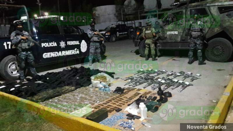 Aseguran arsenal oculto bajo tierra en Reynosa, Tamaulipas