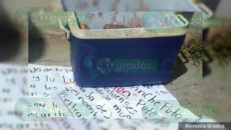 Dejan hielera y bolsas con posibles restos humanos en Pueblo Nuevo, Guanajuato
