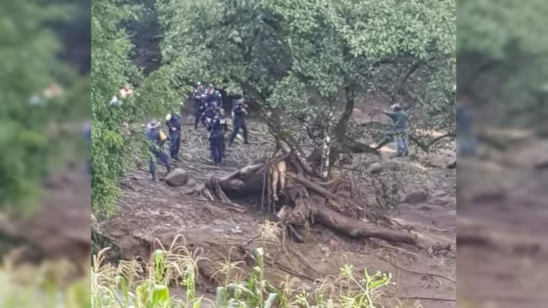 Muerte y destrucción por tromba en Peribán, Michoacán