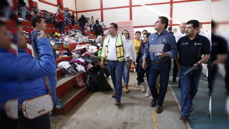 Despliega Gobierno del Estado toda su estructura para atender contingencia en Peribán