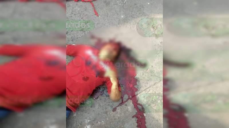Asesinan a un hombre en calles de Sahuayo