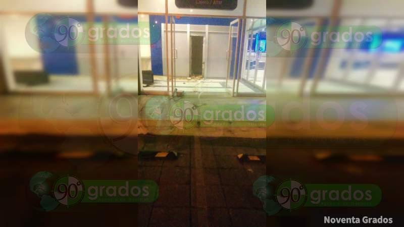 Se roban cajero automático en Altozano en Morelia, Michoacán