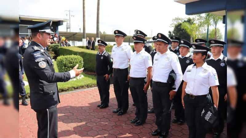 Concluyen Policías Municipales formación equivalente en el IEESSPP