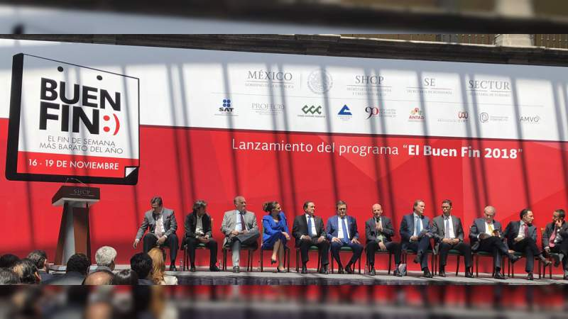 Autoridades estiman ventas por 97 mil millones de pesos en El Buen Fin