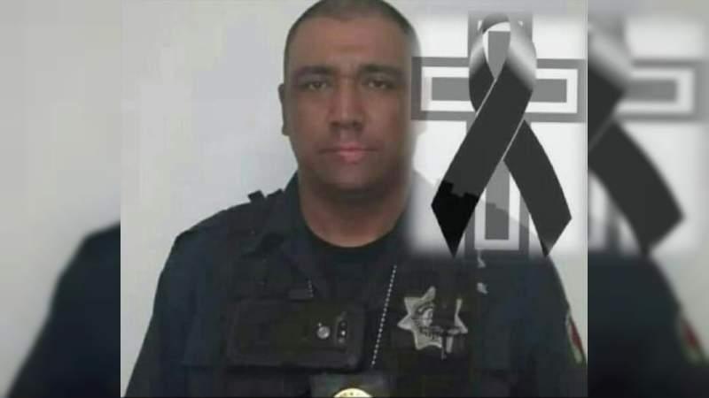 Muere agente de la Policía Michoacán al caer de una patrulla en Churumuco; piden mejores unidades