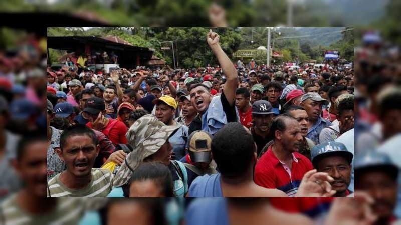 México evitará que caravana hondureña ingrese al país