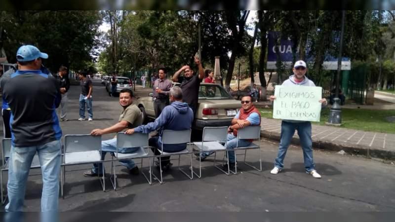 Nuevamente SUEUM bloquea las calles de Morelia