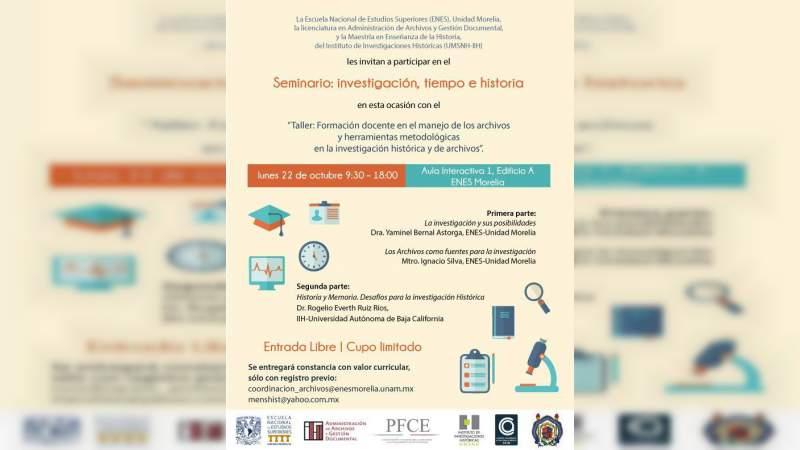 UMSNH y ENES-UNAM, imparten seminario conjunto sobre manejo de archivos