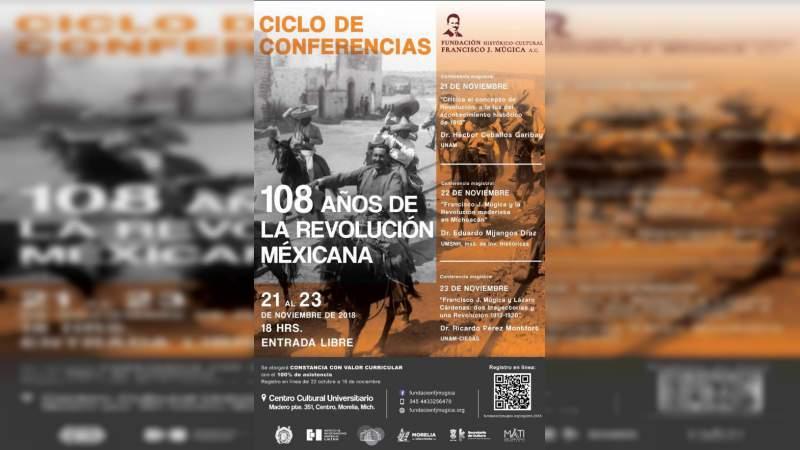 Realizarán ciclo de conferencias a 108 años de la Revolución Mexicana, en la Casa de Hidalgo