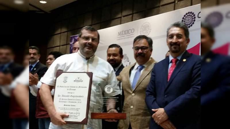 Dr. Avtandil Gogichaishvili, recibe el Premio Estatal de Ciencia 2018