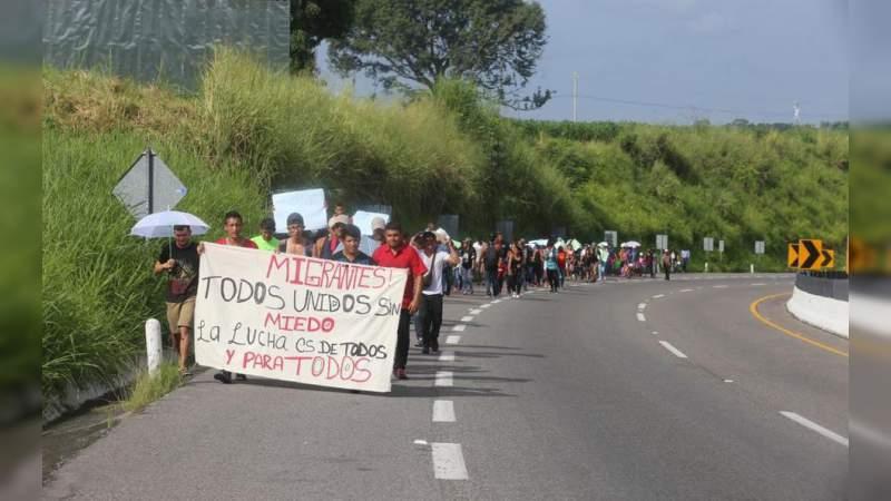 Caravana de migrantes hondureños comienza a llegar a México