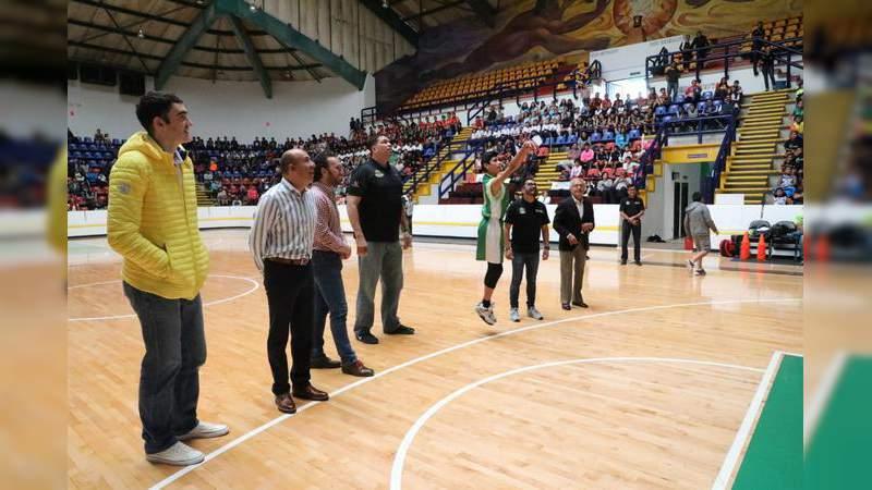 Inauguran Liga Escolar de Básquetbol en Morelia