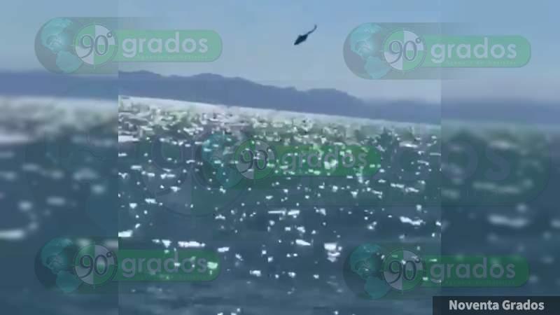 Cae al mar helicóptero con 9 elementos de la Marina en Baja California; hay un desaparecido