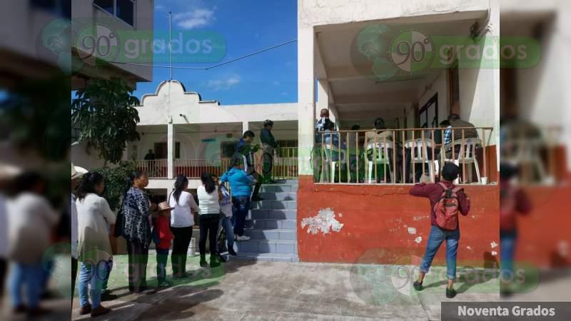Implementa SSP operativo durante elecciones en Zitácuaro, Michoacán