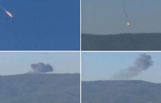 Cazas turcos derriban avión de combate ruso en Siria