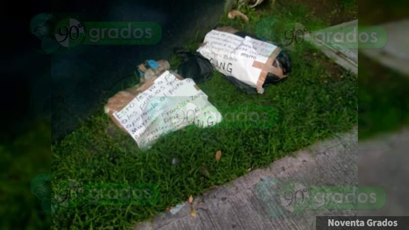 Dejan cuerpos descuartizados y embolsados en Chilpancingo, Guerrero