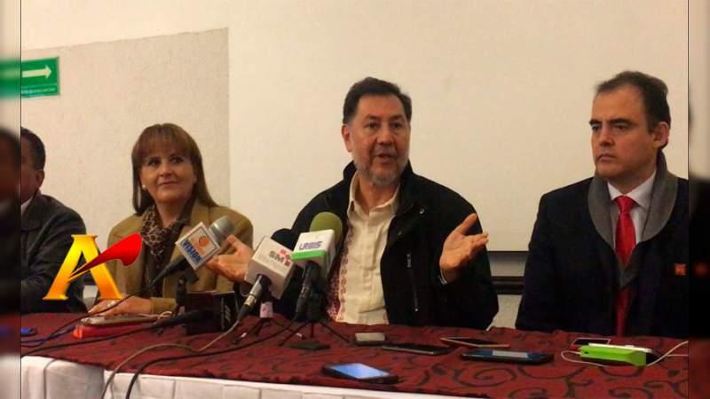 Fernández Noroña le tiende la mano al Gobernador de Michoacán, pero no le confiará recursos