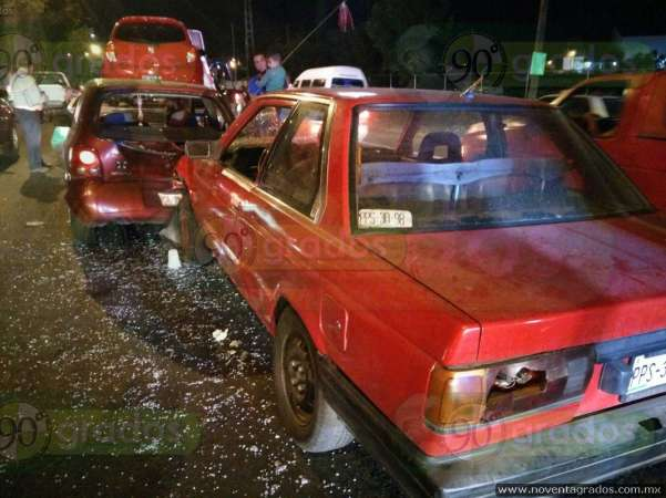Fuerte choque se registra en Morelia